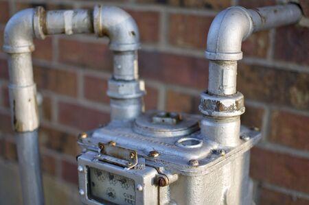 Water Meter Detail Stock Photo
