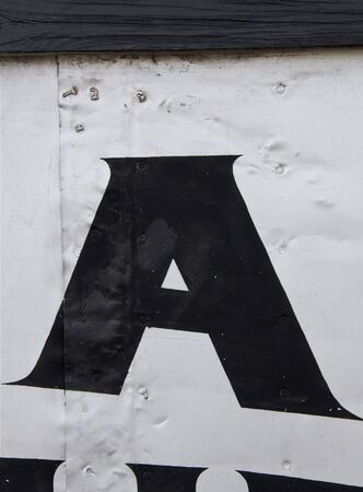 Metal Letter A photo
