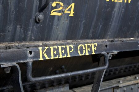 Keep Off Sign Stock Photo
