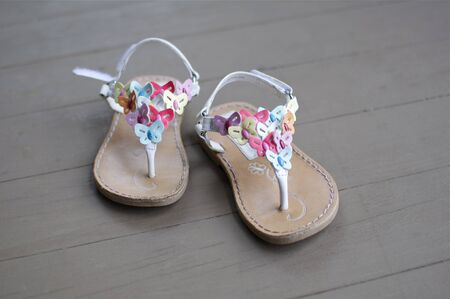 Cute Little Sandals for a Girl Stock Photo