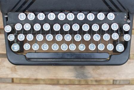Old Typewriter Background Detail Stock Photo
