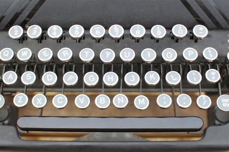 Old Typewriter Keys in Detail