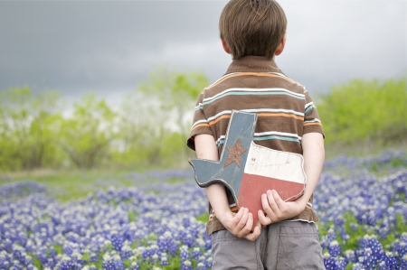Bluebonnets and Little Boy photo