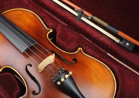 Violin in case. photo