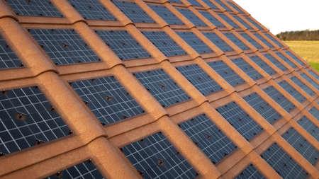 Solar tiles, roof that generates energy