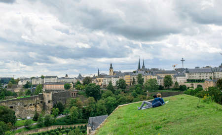 Free time in luxembourg Stock Photo