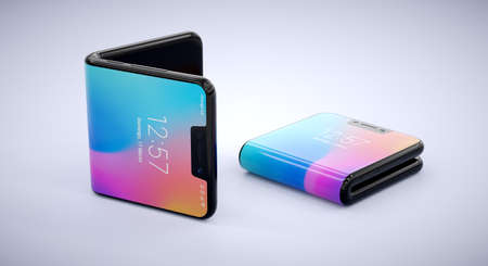 Image of two folding smartphones. The foldable phones are here.