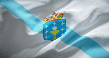 Official flag of Galicia, Spanish autonomous community.