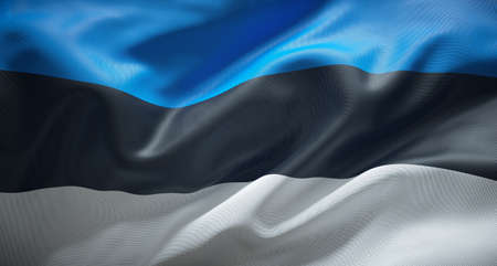 Official flag of the Republic of Estonia.