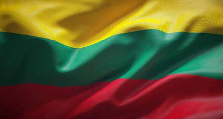 Bandera oficial de la República de Lituania.