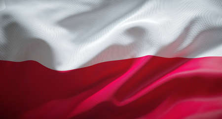 Official flag of the Republic of Poland. Zdjęcie Seryjne