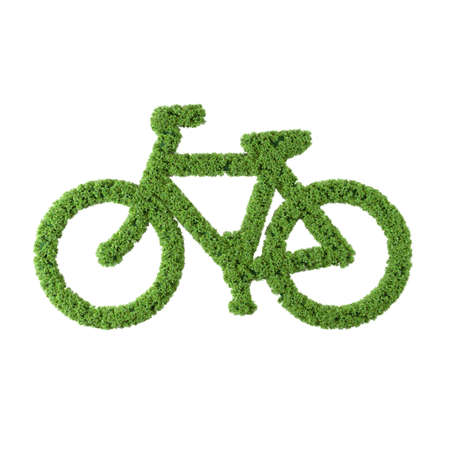Electric bikycle grass icon on white background. Banque d'images - 137782786
