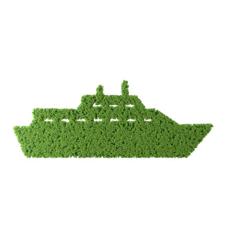 Ship grass icon on white background. Stok Fotoğraf
