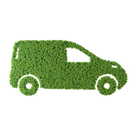 Delivery van grass icon on white background. Stok Fotoğraf