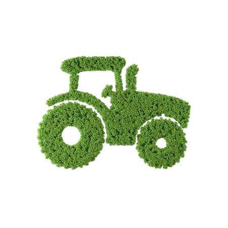 Tractor grass icon on white background. Stok Fotoğraf