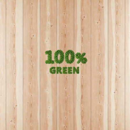 100 hundred percent Green image formed by vegetation and wood.