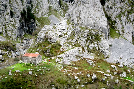 Mountain of the lakes of Covadonga in Asturias