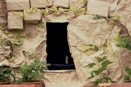 The empty tomb Easter celebration -- manmade