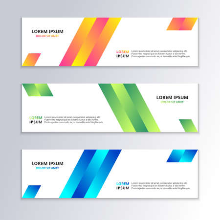 Business Banner Template, Gradient Color, Modern Layout, web header, footer, advertising vector design Illustration