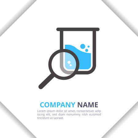 Research Lab Logo Design icon Concept, modern for your brand, company, corporate vector template