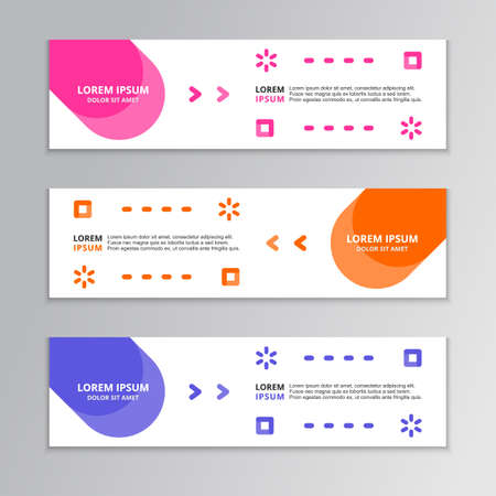 Modern Abstract Shape, Business Banner Template, Corporate Design, Web Header, Footer, advertising