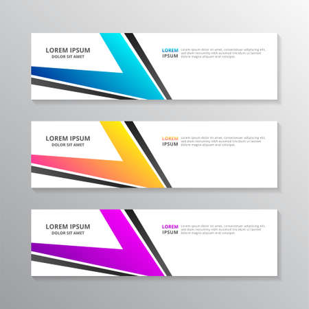 Business Banner Template, Layout Background Modern Design, Corporate Geometric web header or footer in gradient color Vector