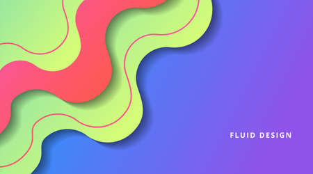 Dynamic Fluid Gradient Background Liquid Shape Composition, for business corporate, brochure, flyer, wallpaper, banner, presentation vector template Stock Illustratie