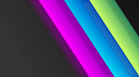 Black Background With Colorful Gradient Layout Design Template New Trend Vector, Suitable for Corporate Company Advertising, Header, Web Page, Landing Page Stock Illustratie