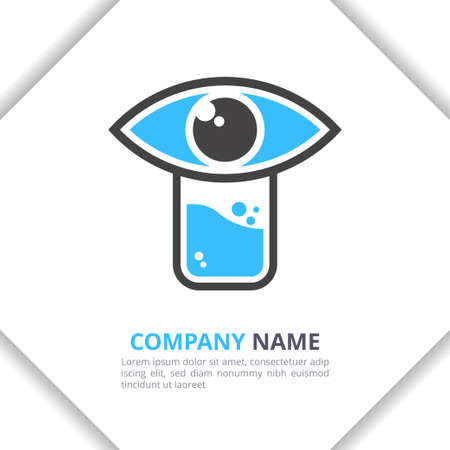 Eye Lab Logo Design icon Concept, modern for your brand, company, corporate vector template