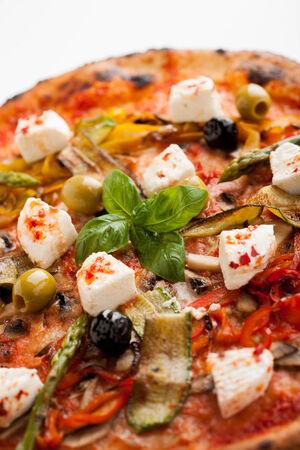 fantasque: capricieuse pizzas, tomates, olives, l�gumes, fromage frais