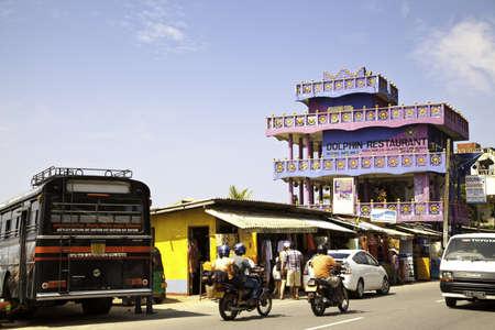 galle: Die Galle Road in Hikkaduwa, Sri Lanka