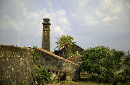 galle: the old dutch fort in Galle on the tropical island Sri Lanka in the Indian Ocean