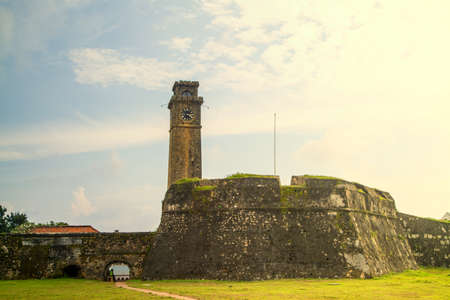 The fort in Galle is a dutch fortress on Sri Lanka in the Indian Ocean in the asian tropes
