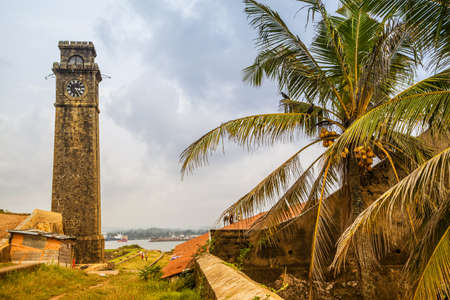The fort in Galle is a dutch fortress on Sri Lanka in the Indian Ocean in the asian tropes photo