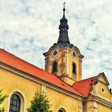 pomp: baroque church in Czech Republic in East Europe Stock Photo