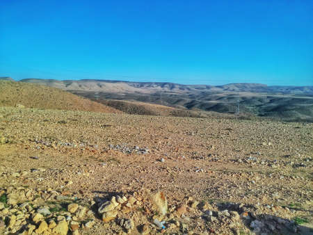 width: In the desert of the Western Sahara in Morocco, Africa