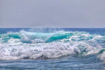 southern sri lanka: wild waves at the coast of Sri Lanka in the Indian Ocean