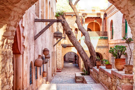 sights: In the medina of the African harbor city Agadir Morocco with lots of sights and gorgeous architecture Stock Photo