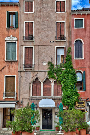 In the alleys of the wonderful old city of Venice in Italy you can find old historical buildings with incomparable atmosphere