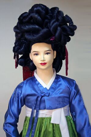 Traditional Korean-style mannequin photo
