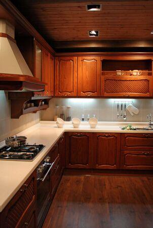 interni casa: Cucina in una sede moderna - interiori domestici Archivio Fotografico