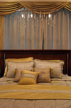 Bedroom decorated in yellow Stock Photo - 305035