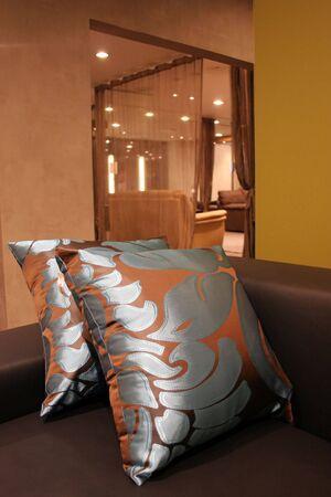 Wohnzimmer in einem Luxus-Home - Home Interieur Lizenzfreie Bilder