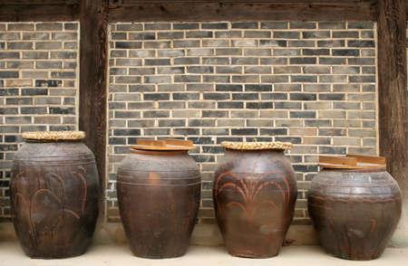 folk village: Kimchi pots at Suwon Folk Village, South Korea