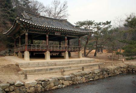 folk village: Old building at Suwon Folk Village, South Korea Stock Photo