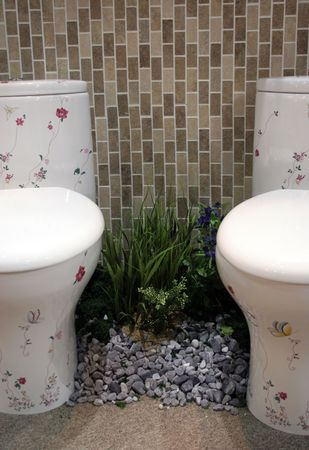 Floral toilets Stock Photo - 327403