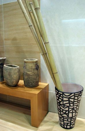 Bamboo in a pot Stock Photo - 328214