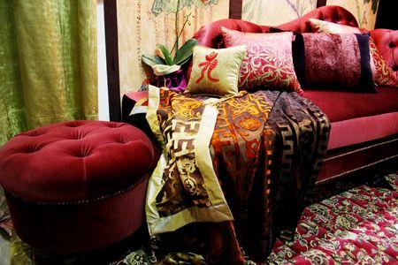 Beautiful velvet lounge photo