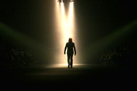 Model leaving the runway photo