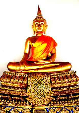Gold Buddha statue in Bangkok, Thailand photo